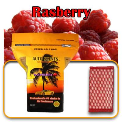 Raspberry, scented pads, 60 count bag image